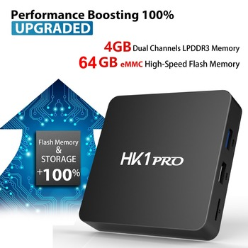 HK1 PRO akıllı tv kutusu Android 8.1 DDR4 4 GB Ram 64G Rom Amlogic S905X2 Quad Core USB3.0 2.4G/ 5G Çift WIFI Bluetooth 4 K Set Top Box