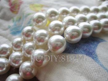 "15.5"" Synthetic Shell Pearl Beads Round Fashion Beads for jewelry making 4 6 8 10mm Necklace Bracelet Accessoires"