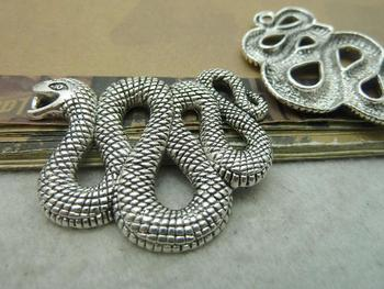 5pcs 40x48mm Antique Silver The Snake Charms Pendant c6180