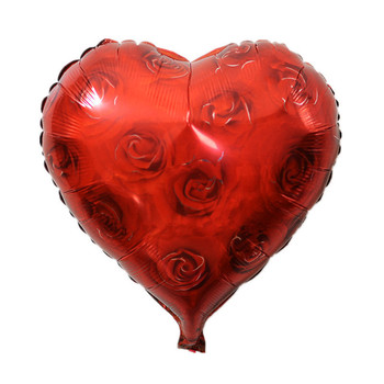 TSZWJ C-006 heart-shaped roses decorated birthday balloons holiday party balloons wholesale children's toys