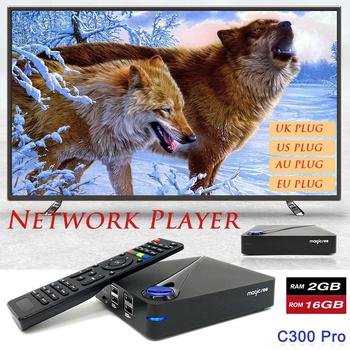 Magicsee C300 PRO Set-top Box Android 7.1 DVB S912 HD Set-top Box Ağ Oyuncu TV KUTUSU bluetooth V4.0 DVB-T2 4 K/2 K Oyuncu